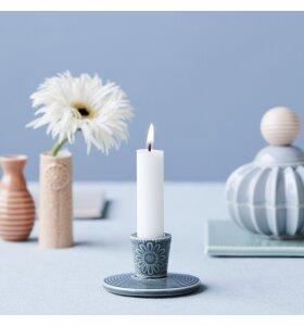 dottir NORDIC DESIGN - Lysestage Pipanella Lines/Flower, Dark