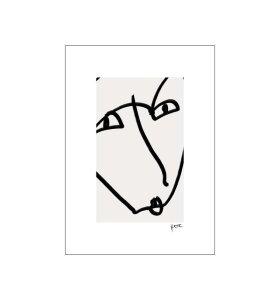 Poster and Frame - N. Atelier, Femme avec la Bouche, 50*70
