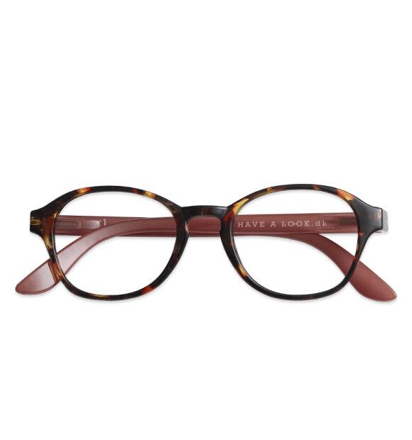 Have A Look - Læsebrille Circle, Tortoise/Rose