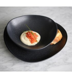 Ro Collection - Deep plate no. 52, Lava Stone