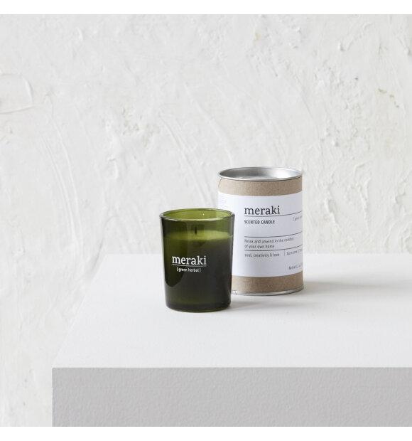 meraki - Duftlys Green Herbal, Small