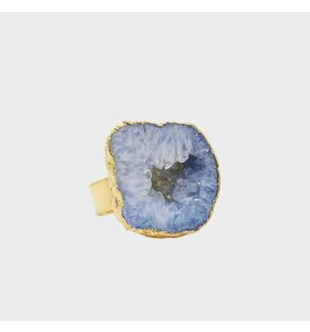 Vincent - Asger ring Celestite, Forgyldt