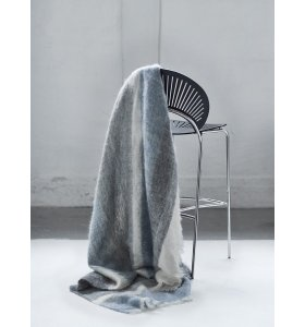 Skriver Collection - Nanna Ditzel Mohairplaid, Blå/grå