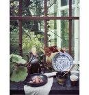 HK living - Dyb tallerken Kyoto Rustic, Sort