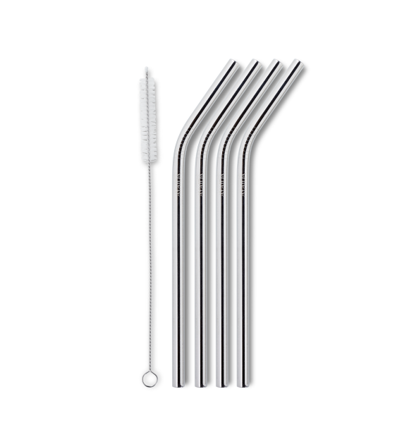 AYAIDA - Smoothe straw, Silver