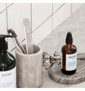meraki - Tandbørstekrus Marble, Beige