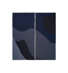 ferm LIVING - Sengetæppe Vista, Mørkeblå