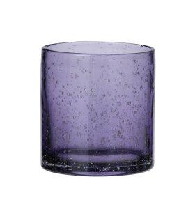 BUNGALOW - Cylinder lysglas Lilla, H:10