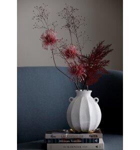 BUNGALOW - Vase Hvid, 22 cm.