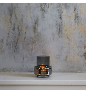 Ro Collection - Hurricane Tealight No. 25, Smoked grey/Platinum