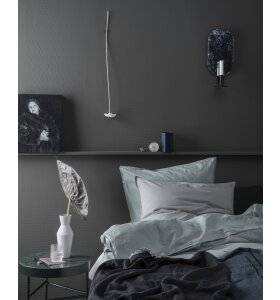 ferm LIVING - Hovedpudebetræk Hush Solid, Dusty Blue