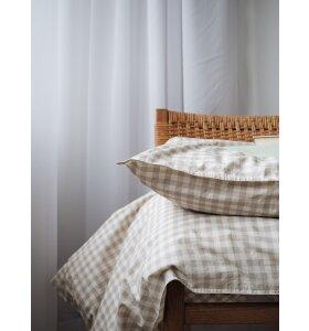 Studio Feder - GOTS økologisk sengesæt, Gingham Oat 140*200