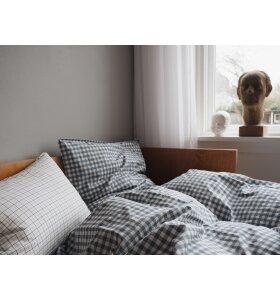 Studio Feder - GOTS økologisk sengesæt, Gingham Blue 140*200