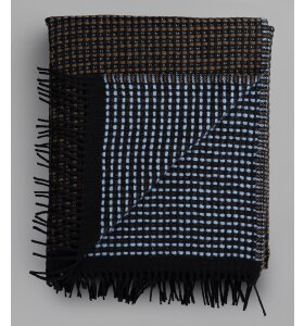 Røros - Lofoten plaid, Blå/brun