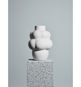 Louise Roe - Ceramic Balloon Vase #04, Raw White