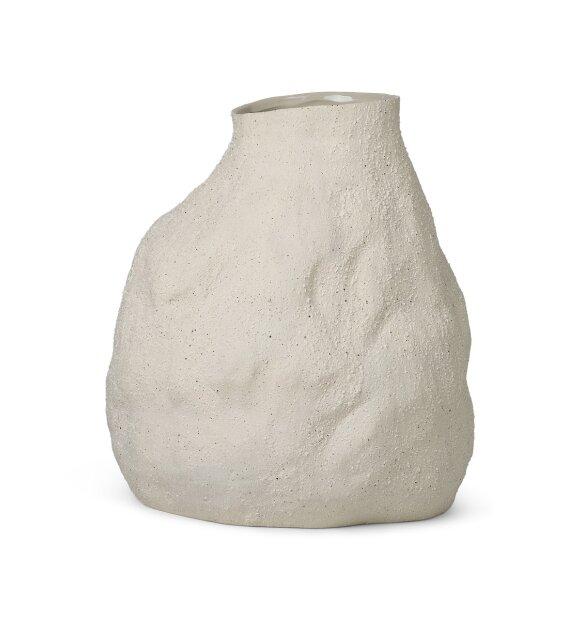 ferm LIVING - Vulca vase Offwhite Stone, Medium