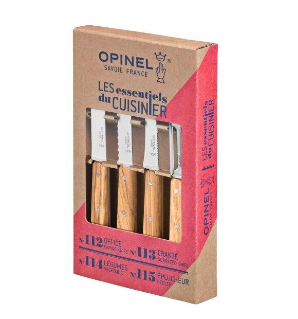 Gourmet Supply - Opinel knivsæt les Essentiels, Oliventræ