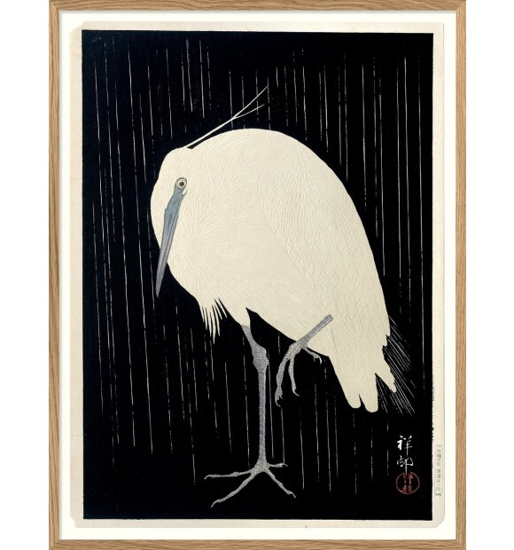 The Dybdahl Co. - Crane on black 50*70 indrammet, Sendes ikke