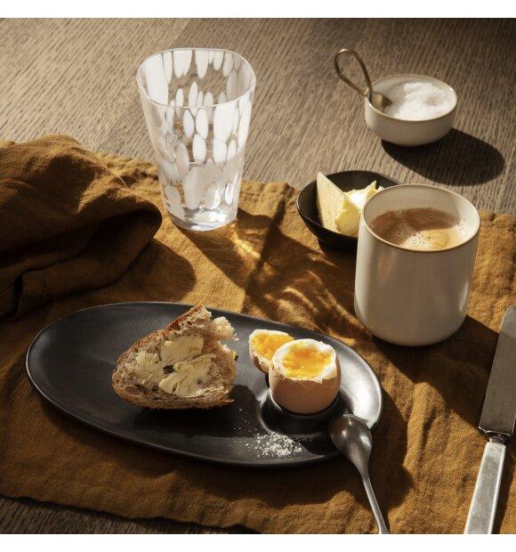 ferm LIVING - Flow morgenmadstallerken, Sort