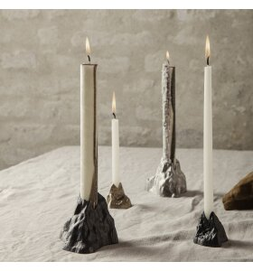 ferm LIVING - Stone lysestage L, Aluminium