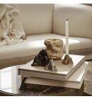 ferm LIVING - Stone lysestage L, Sort aluminium