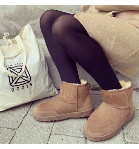 New Zealand Boots - Støvle ultrakort vinter, Cognac