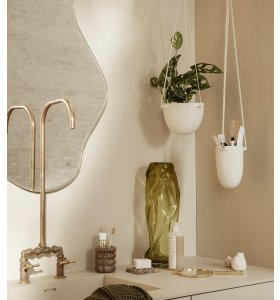 ferm LIVING - Speckle Hængepotte Offwhite, Small