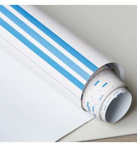 MONOGRAPH - Gavepapir Stripes, lyserød/blå