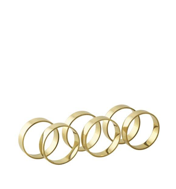 Broste Copenhagen - Ring 6 servietringe, Blank messing
