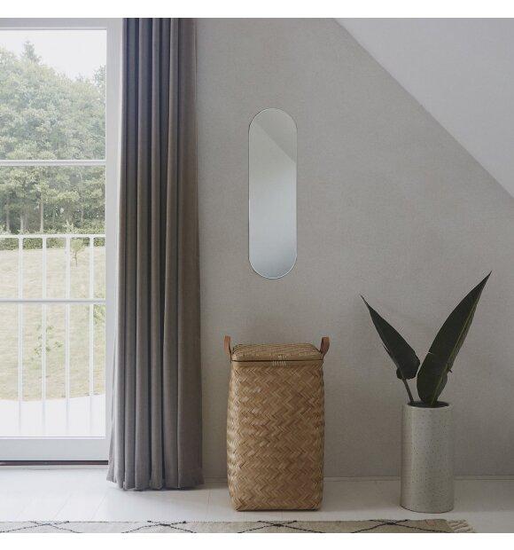 OYOY Living Design - Renga Oval spejl, Antracit - hent selv