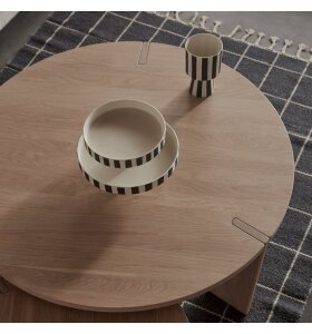 OYOY Living Design - Toppu Tray Sort/hvid, Large