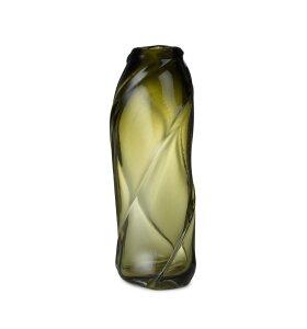 ferm LIVING - Gulvvase Water Swirl Tall, Moss Green