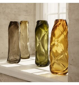 ferm LIVING - Vase Water Swirl Tall, Amber