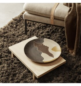 ferm LIVING - Tæppe Meadow High Pile, Tapenade 140*200 - Hent selv