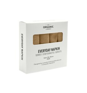 The Organic Company - Servietter Everyday Napkin 4 stk, Khaki