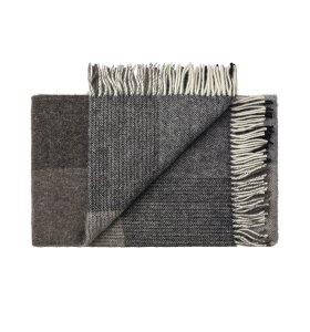 Silkeborg Uldspinderi - Plaid Oxford, Dark Grey 140x240