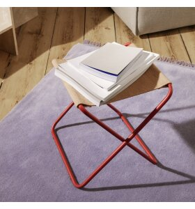 ferm LIVING - Desert skammel Poppy Red/Sand