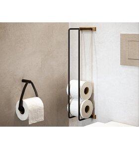 by Wirth - Toiletpapirholder, Sort