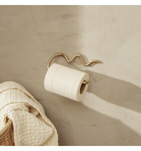 ferm LIVING - Curvature toiletrulleholder, Messing