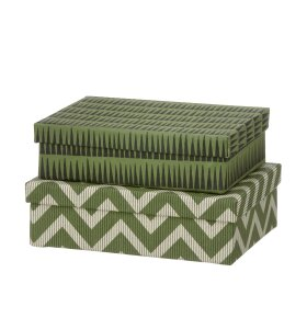 BUNGALOW - Oblong Duo-Box S, Himala Leaf Green