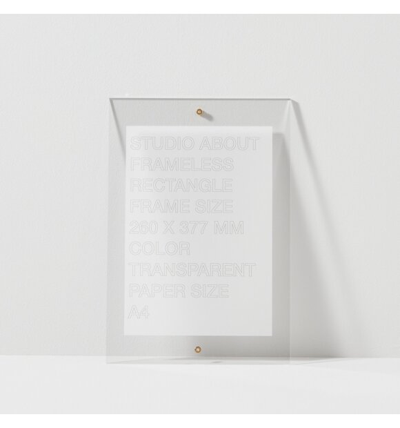 Studio About - Frameless A4, Rectangle