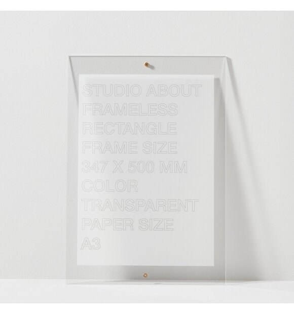 Studio About - Frameless A3, Rectangle