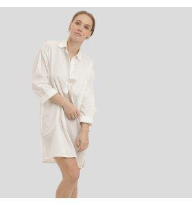 Care By Me - Lina Long Shirt, Hvid/Grå