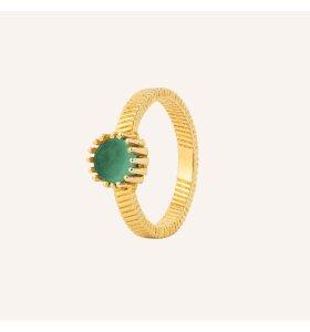 Vincent - Ring Fortune Teller, Grøn Onyx