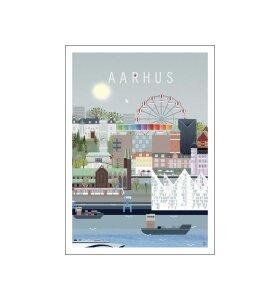 Poster and Frame - Aarhus, Lydia Wienberg 50*70