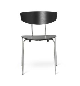 ferm LIVING - Herman spisebordsstol, Krom/Sort- selvafhentning