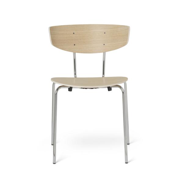 ferm LIVING - Herman spisebordsstol, Krom/Eg natur - selvafhentning