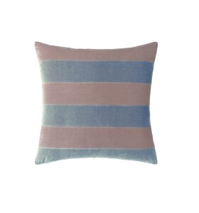 Christina Lundsteen - Pude Stripe, Old rose/Blue dust, 55*55