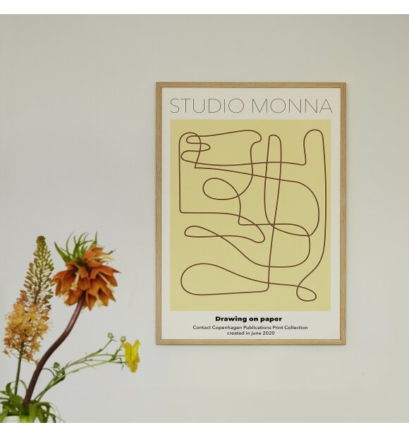 Monna Studio - Drawing on paper  - uden ramme