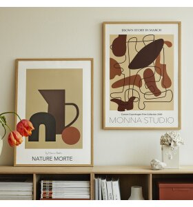 Monna Studio - Brown Story In March 50*70 - uden ramme